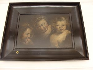 Three Cherubs oil